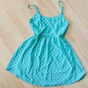 Everly spaghetti strap polka dot a line dress M